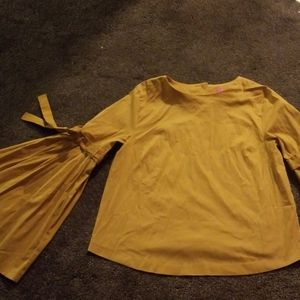 Catherine's, Mustard Yellow /Gold Bell Sleeves top